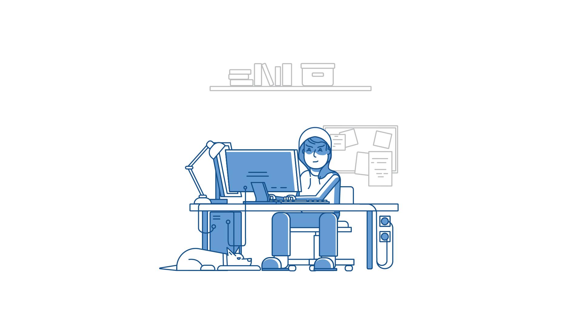 Mist Visual - Studio Animacji. Ósma ilustracja do animacji NASK DNSSEC Video Explainer