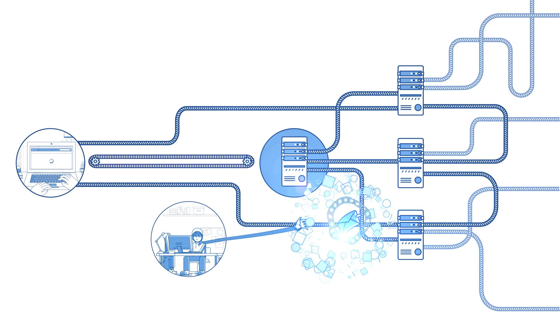 Mist Visual - Studio Animacji. Szósta ilustracja do animacji NASK DNSSEC Video Explainer