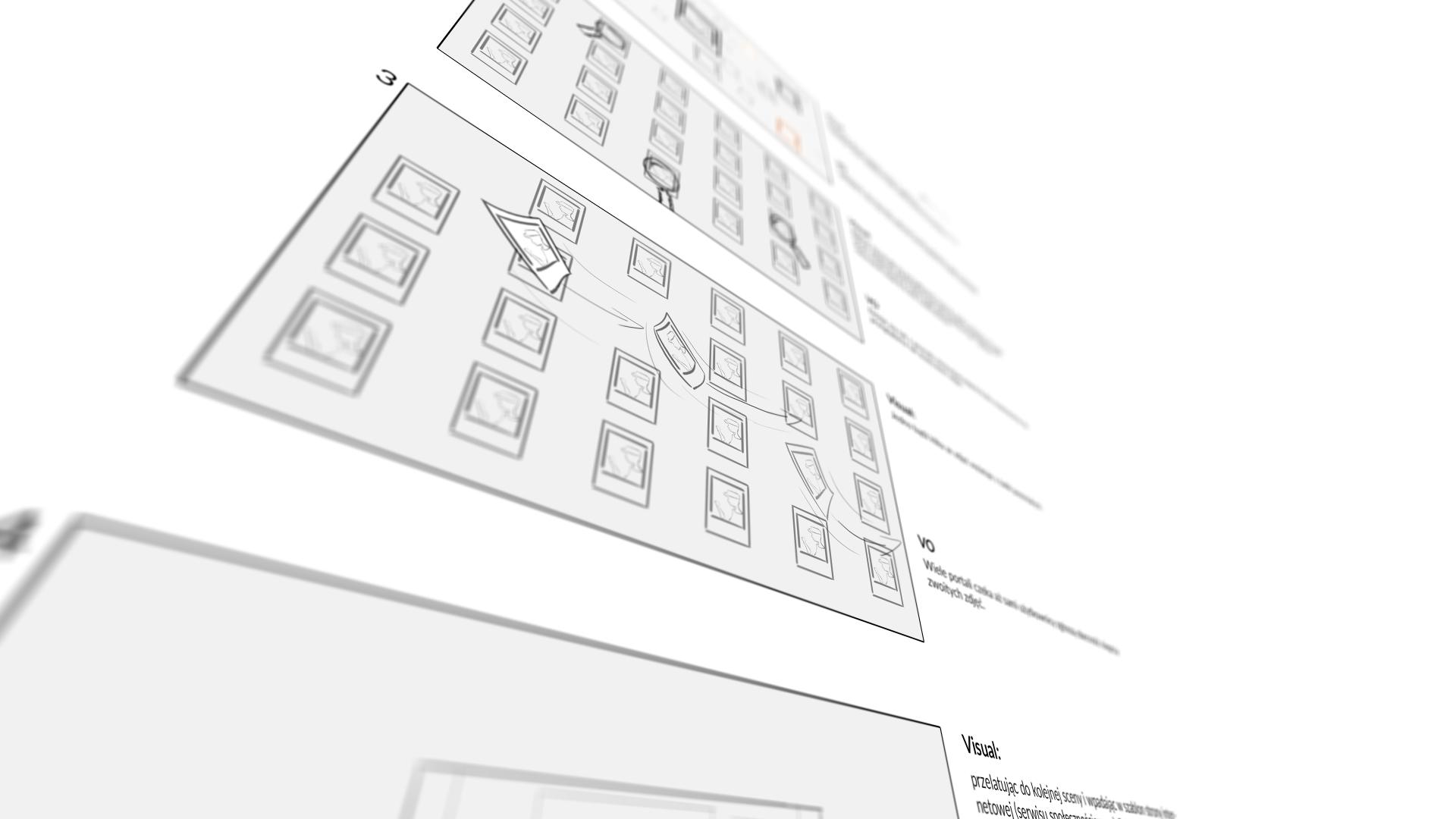 Mist Visual - Studio Animacji. Storyboard do animacji xModerator Video Explainer 2