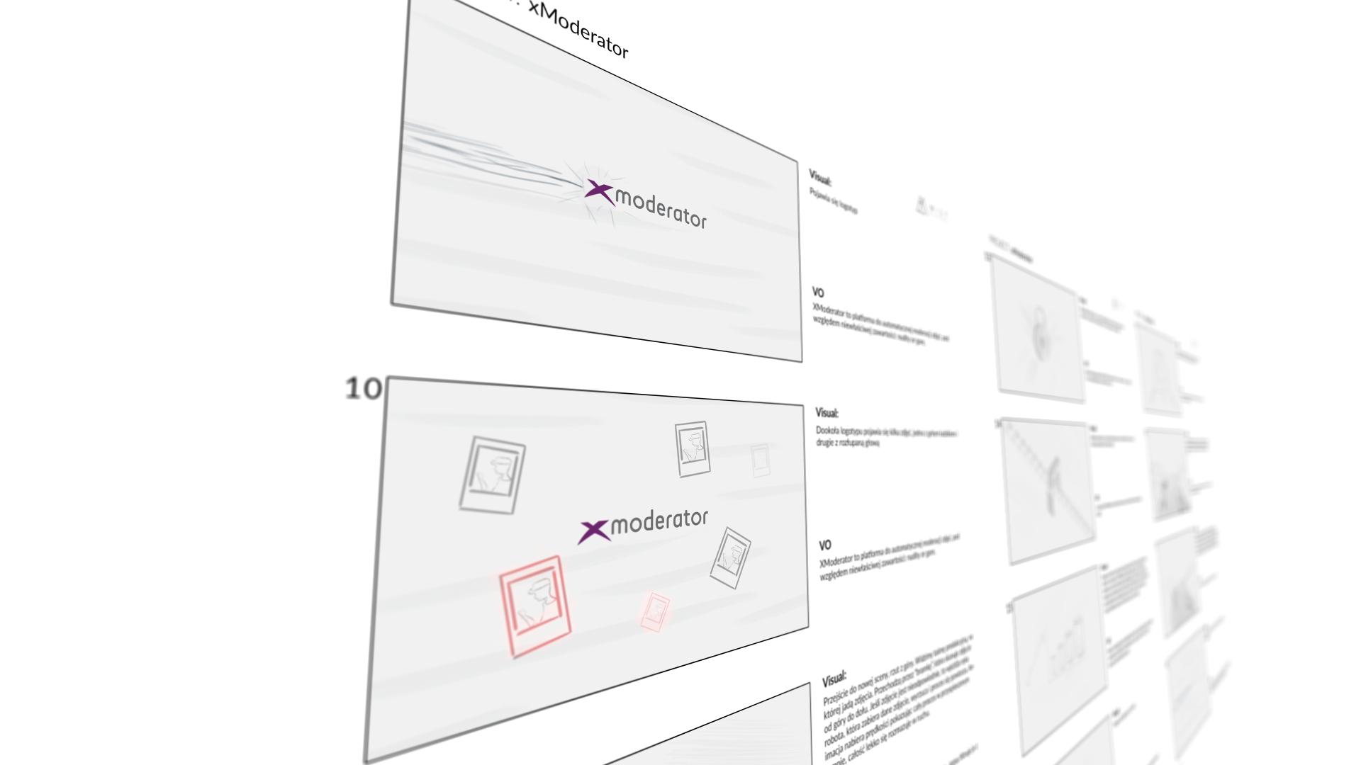 Mist Visual - Studio Animacji. Storyboard do animacji xModerator Video Explainer